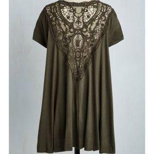 ModCloth green lace tunic